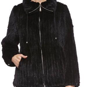 Black mink coat